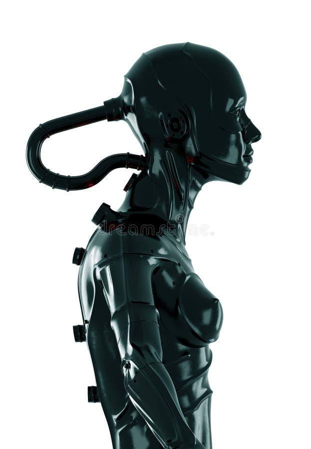 Cyborg nero alla moda royalty illustrazione gratis