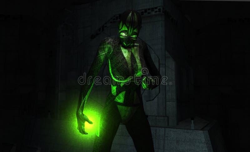 Download Cyborg portrait stock illustration. Image of metal, illustration - 9631463