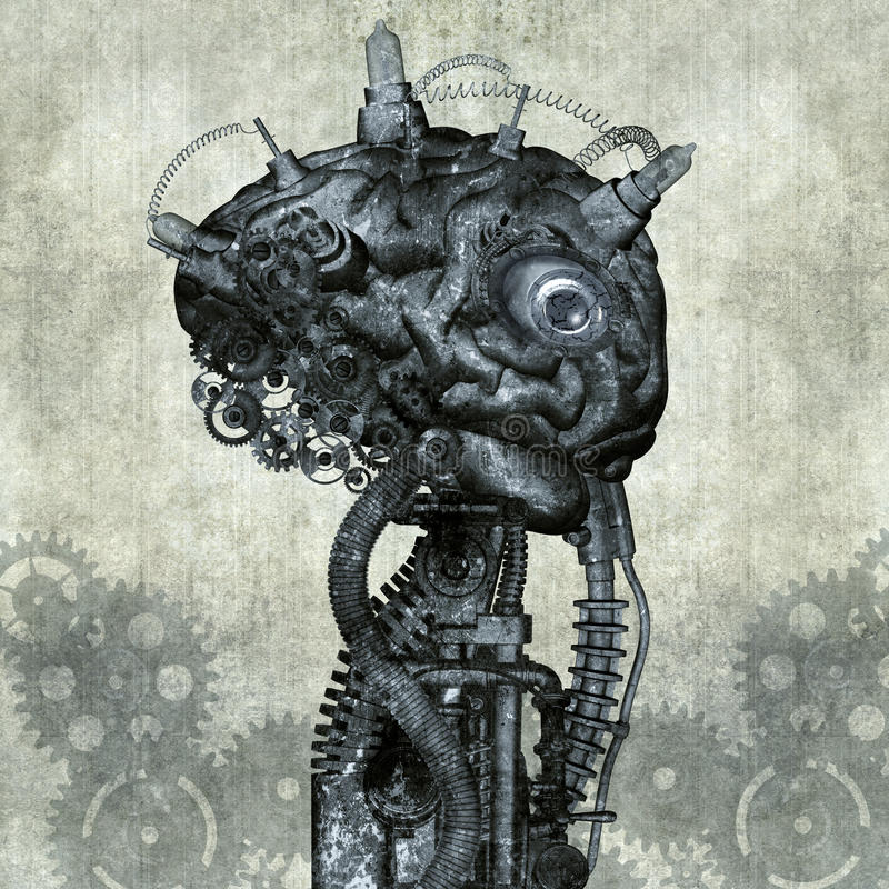 Download Cyborg stock illustration. Illustration of gear, ancient - 37092962