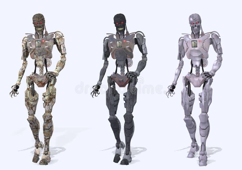 Cyborg robot figures