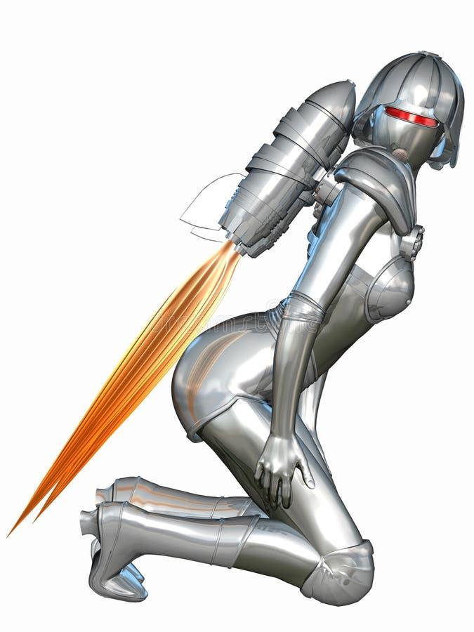 cyborg seksowny royalty ilustracja