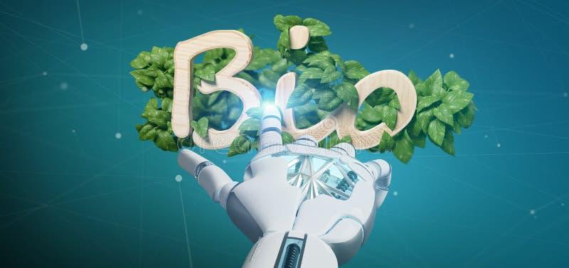 Cyborg som rymmer trälogo bio med sidor runt om tolkningen 3d arkivfoton