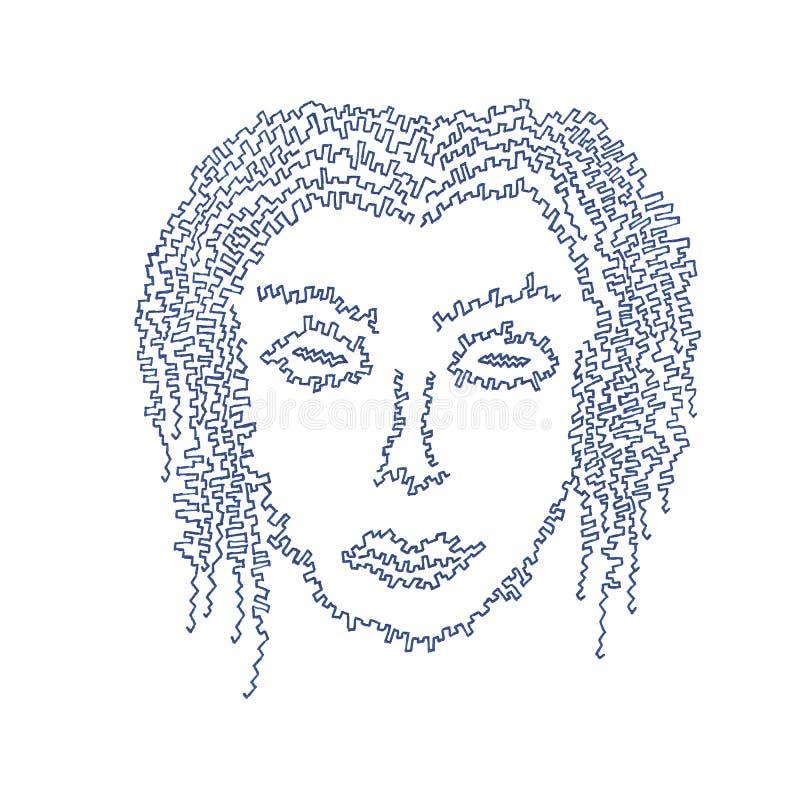 Cyborg vrouwelijk gezicht royalty-vrije stock afbeelding