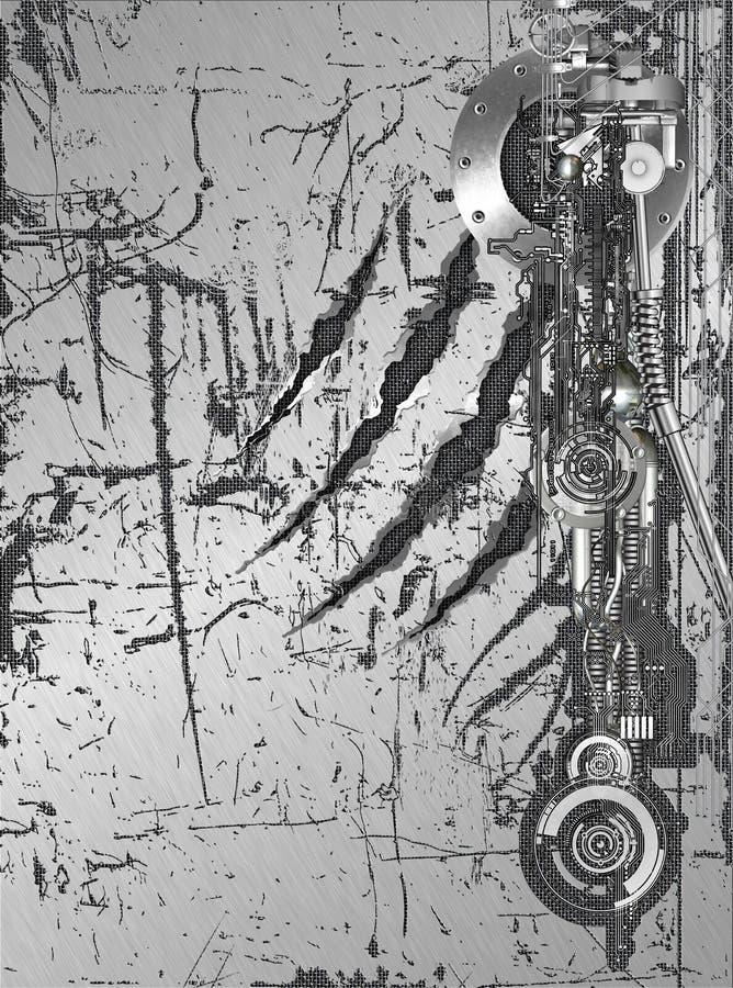 Cyborg wall vector illustration