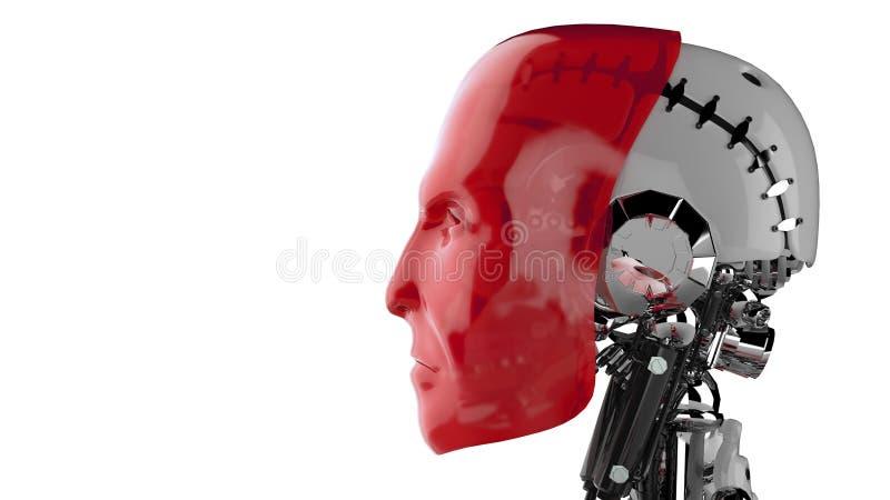 Cyborga profil ilustracji
