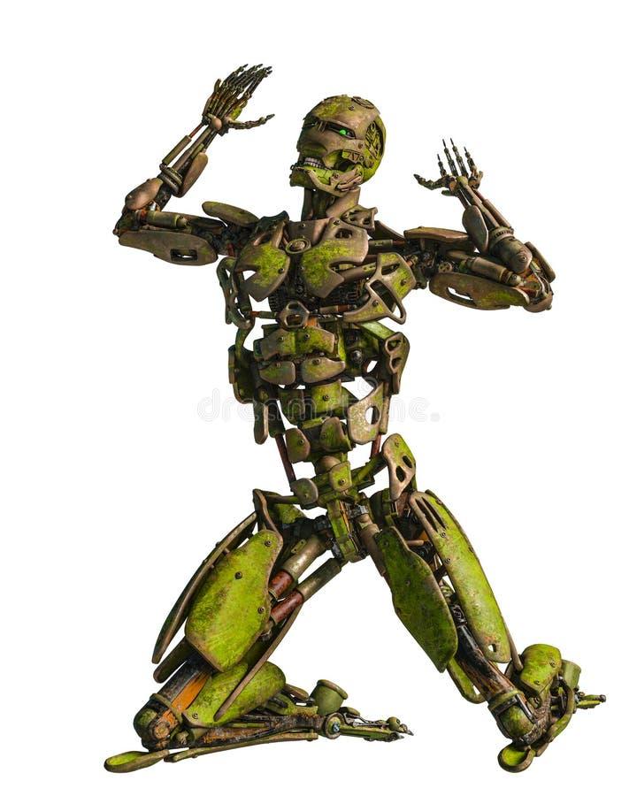 Cyborga robot w misi royalty ilustracja