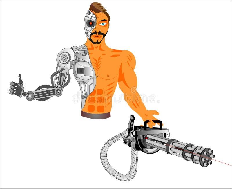 Cyborgcomputer der Zukunft stock abbildung