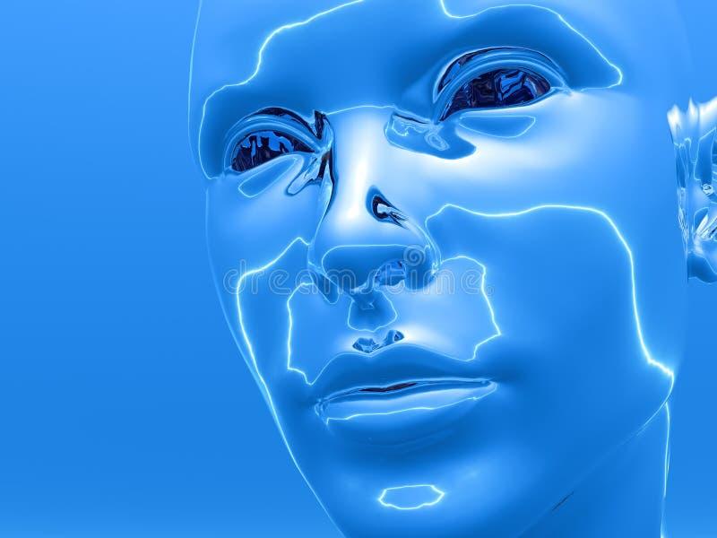 Cyborgkopf lizenzfreie abbildung