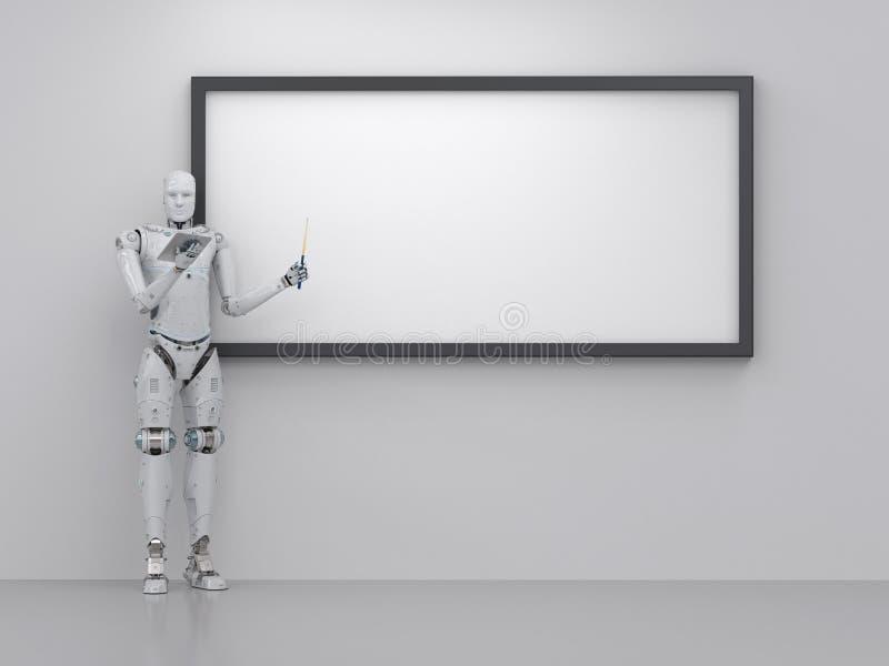 Cyborglärare eller föreläsare stock illustrationer