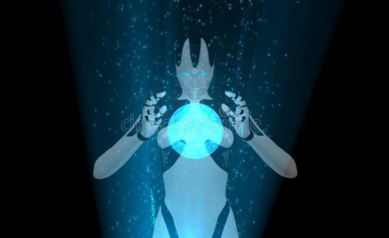 Cyborgleistung oben vektor abbildung
