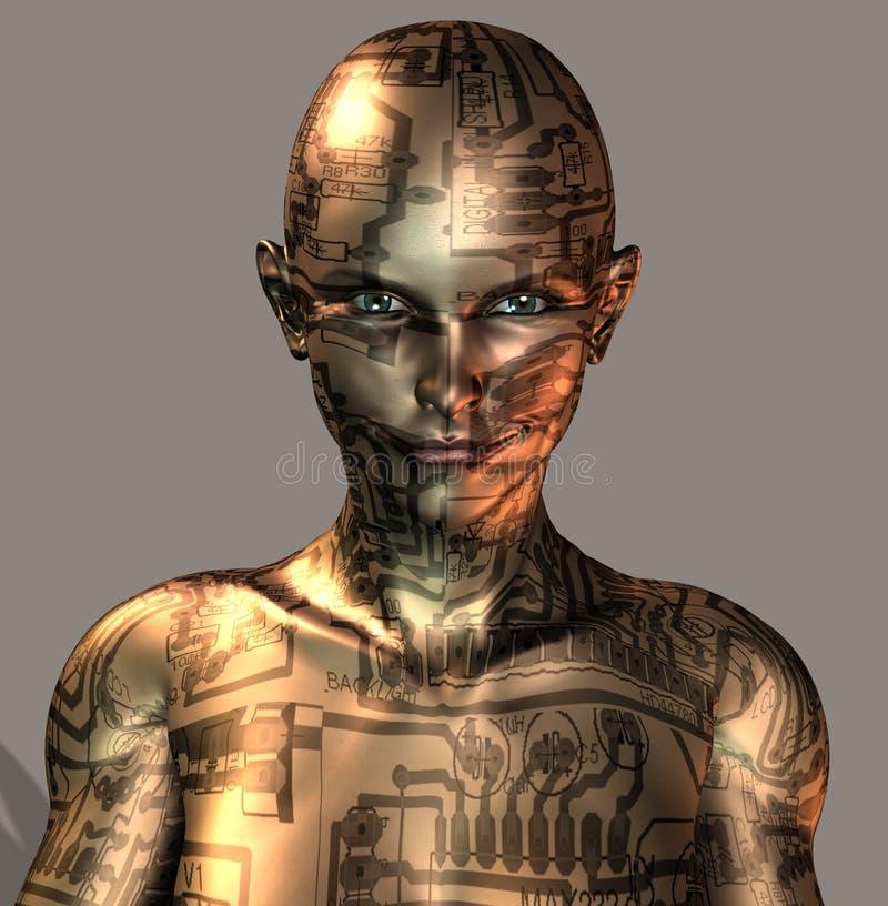 Cyborgmeisje vector illustratie