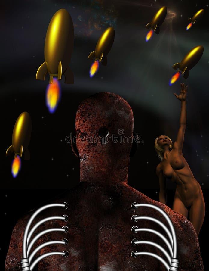 Cyborgmens stock illustratie