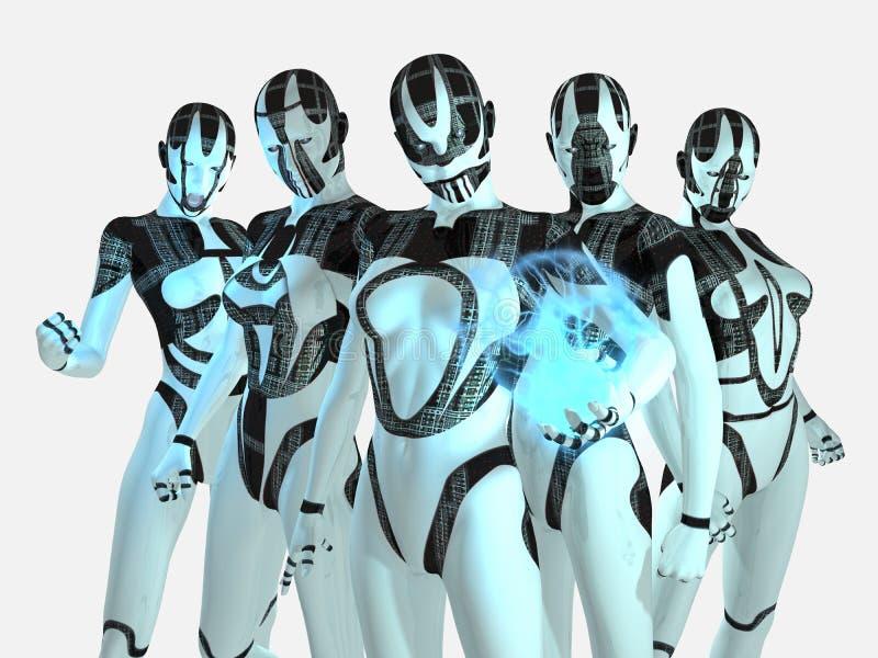 Cyborgs ilustração royalty free