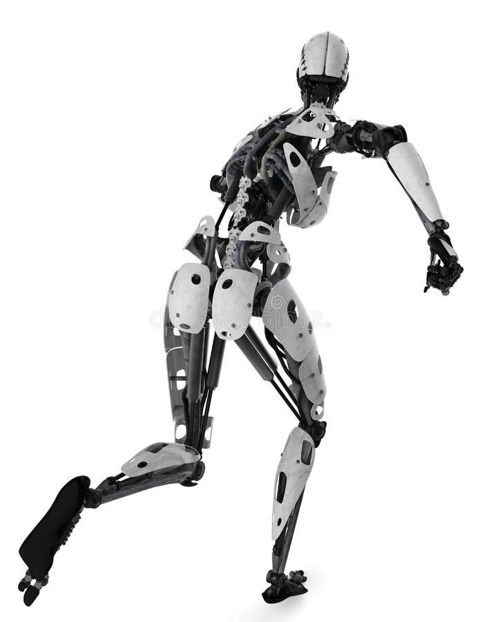Cyborgschädel stock abbildung