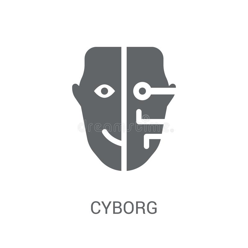 Cyborgsymbol  royaltyfri illustrationer