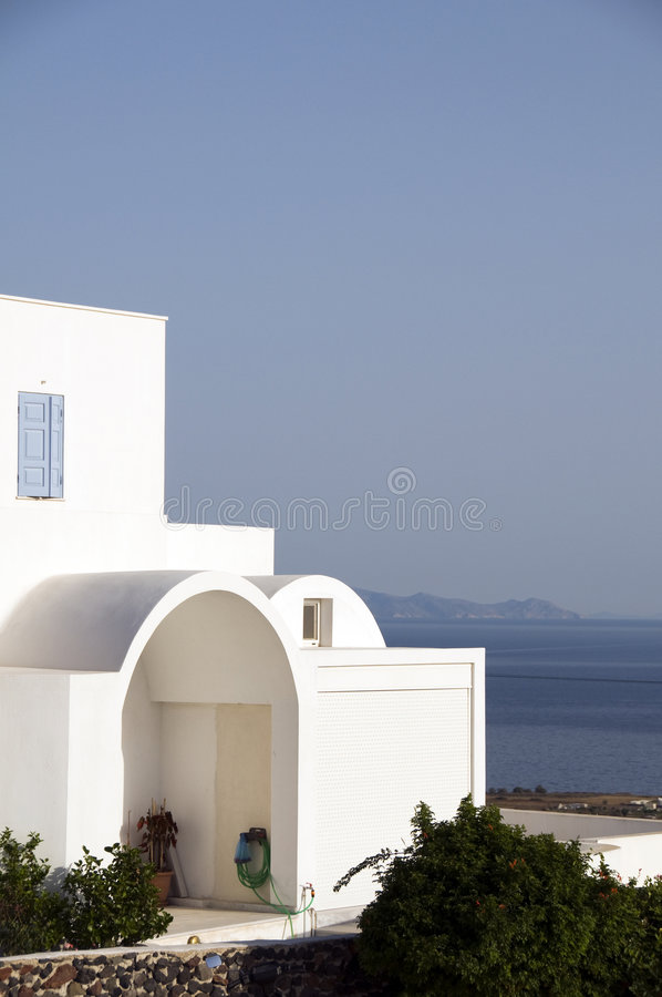 Download Cyclades Greek Architecture House With Aegean View Stock Photo - Image of seascape, doors: 5655614