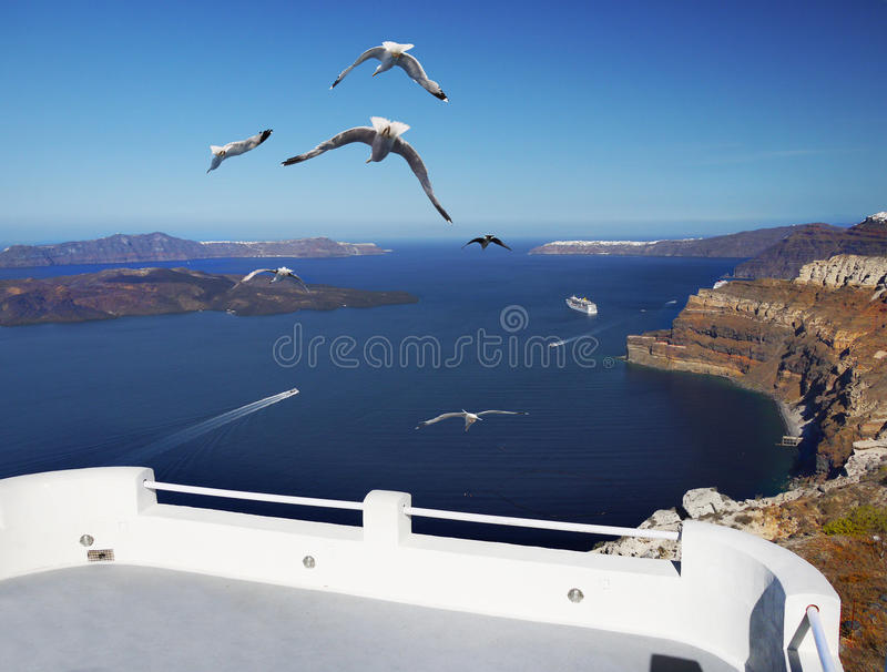 Cyclades, Santorini island royalty free stock images