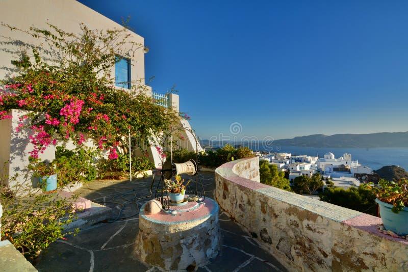 cycladic πεζούλι Πλάκα, Μήλος Νησιά των Κυκλάδων Ελλάδα στοκ φωτογραφία με δικαίωμα ελεύθερης χρήσης