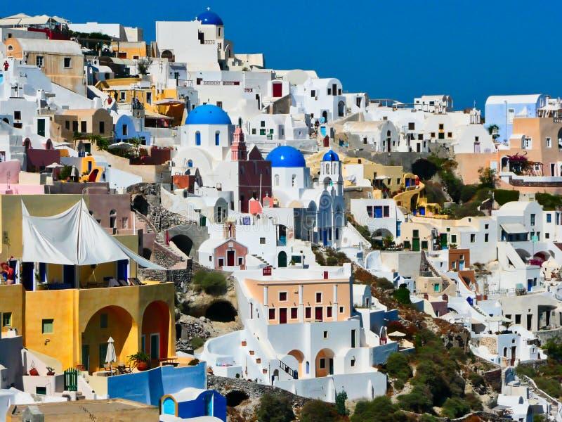 Cycladic Architecture, Oia, Santorini, Greece royalty free stock photos