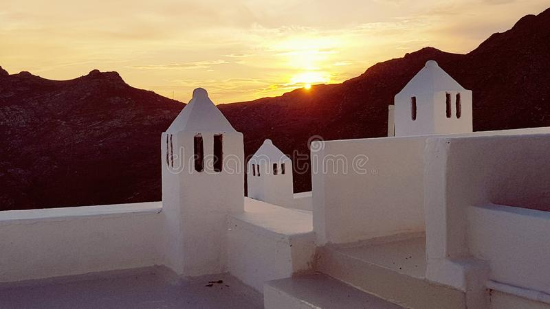Cycladic architecture on Serifos islands stock photos