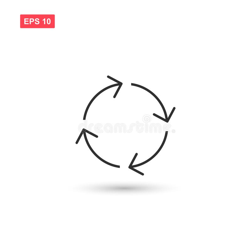 Cycle arrows icon vector design isolated 4 royalty free illustration