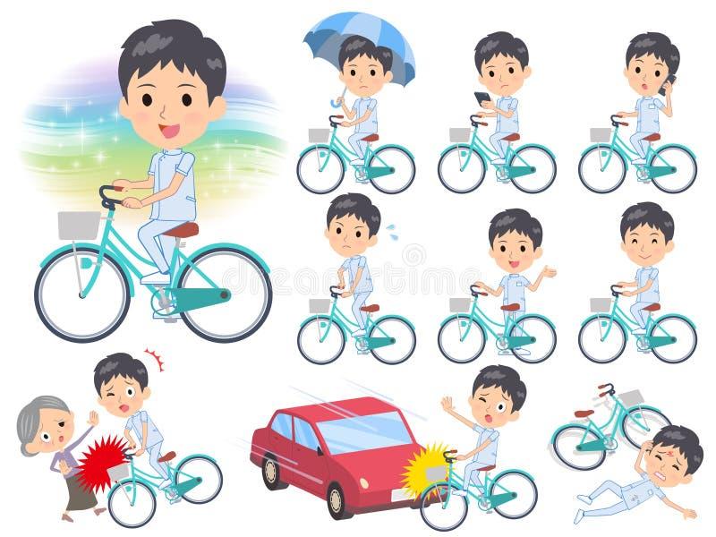 Cycle de men_city de chiroprakteur illustration de vecteur