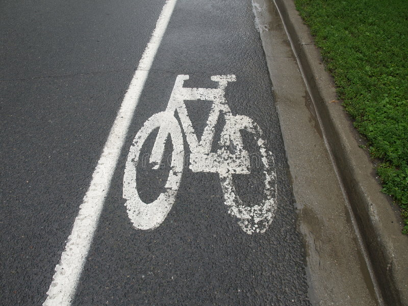 Cycle Lane Stock Photos