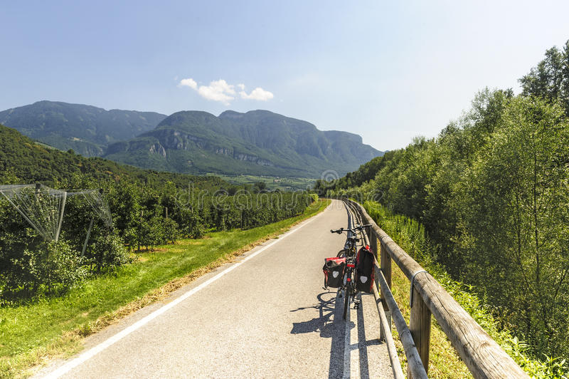 Download Cycle Lane Of The Adige Valley Stock Photo - Image: 26292122