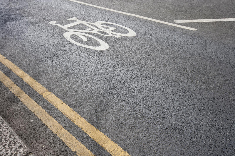 cycle lane royalty free stock images