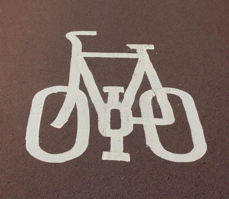 Cycle Lane Sign Royalty Free Stock Photos