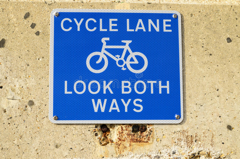 Cycle lane sign royalty free stock image