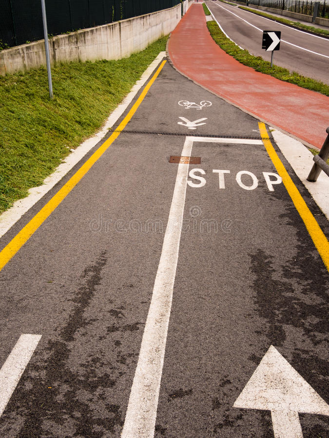 Cycle And Pedestrian Lane Royalty Free Stock Image