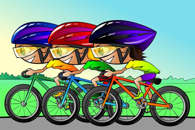 Download Cycle race stock illustration. Illustration of outdoors - 15251902