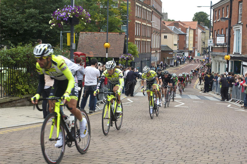 Cycle Race. Through norwich uk stock image