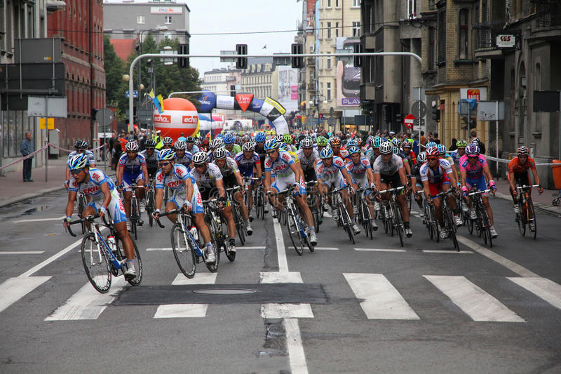 Cycle race stock photography