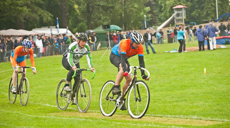 Cycle race at Forres Highland Games
