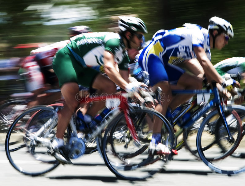 Cycle Race II stock photography