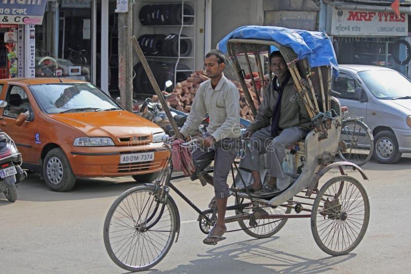A cycle rickshaw. Dibrugarh assam, india royalty free stock images