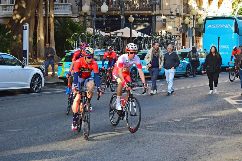 Cycle Road Race Alicante royalty free stock photo