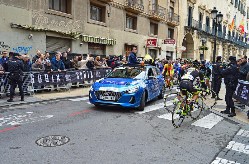 Cycle Road Racing Officials Course Car royalty free stock images