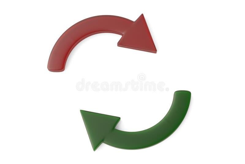 Download Cycle Rouge Et Vert De Flèche Illustration 3D Illustration Stock - Illustration du vert, élément: 87705398