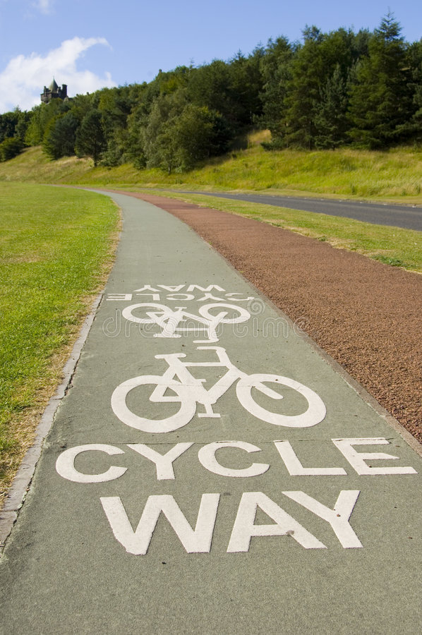 Download Cycle Way stock image. Image of pavement, cycle, blue - 1055651