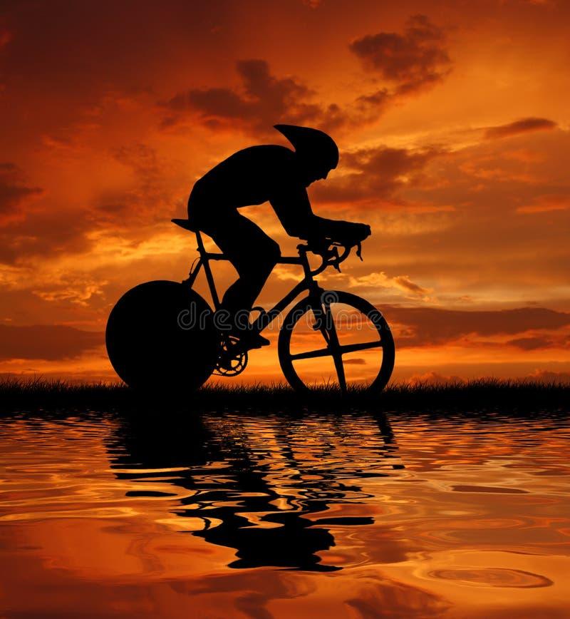 cycler路 库存例证