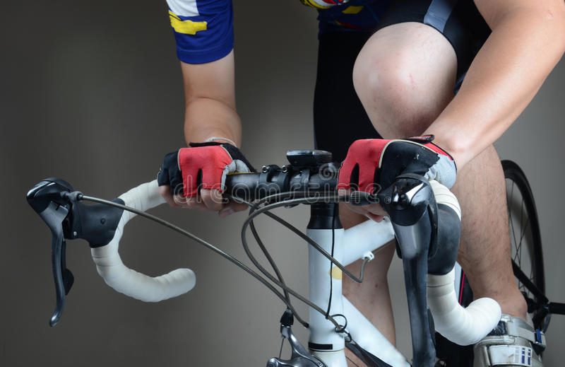 Cycler骑马 库存照片