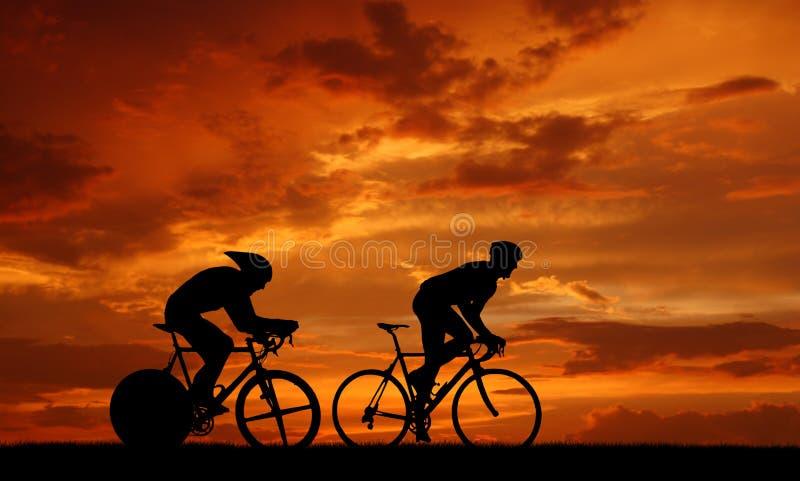 Cycler da estrada ilustração do vetor