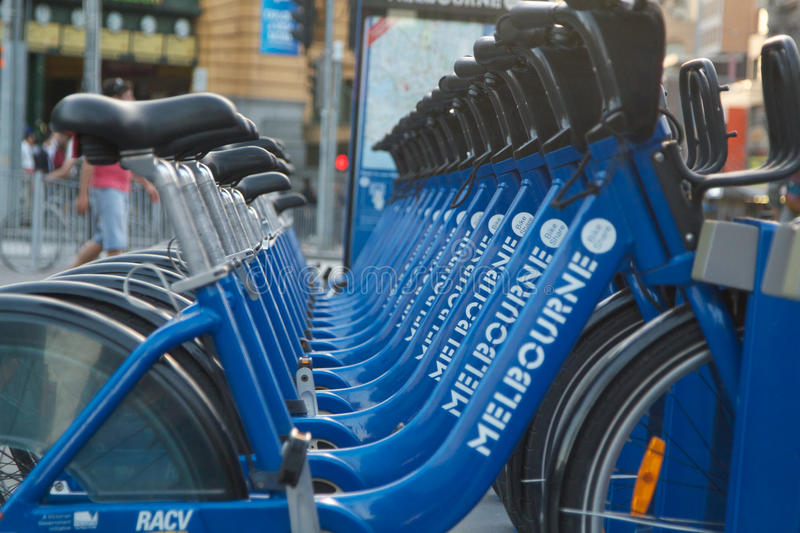 Cycles in Melbourne royalty free stock photo
