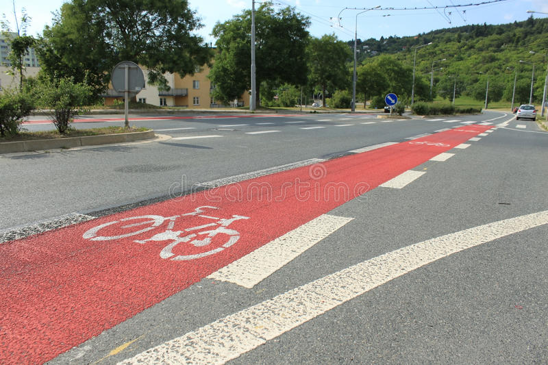 Cycleway in Brno stock photos