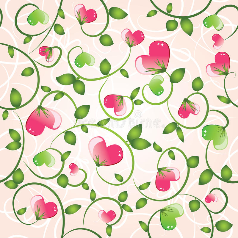 Download Cyclic Valentine Background Stock Vector - Image: 12188073