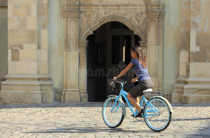 Download Cycling stock image. Image of lonely, rear, people, action - 12644077