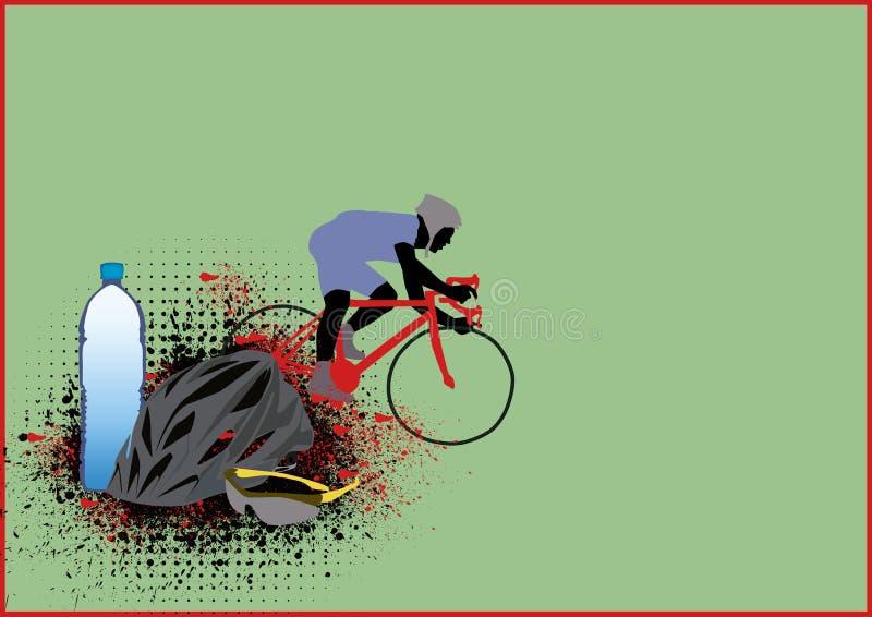 Download Cycling stock illustration. Image of helmet, happy, bike - 25763563